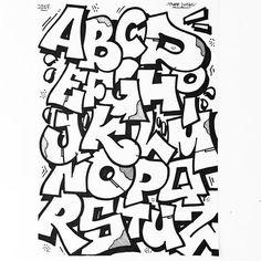 Fussy Alphabet • • • #graffiti #graffitiart #streetart #krinkpaint #supreme #traplife #minimal #typegang #trapstyle #ghetto #ghettofab