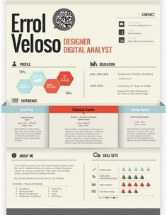 + Resume | Self Promotion on the Behance Network #infographic #resume