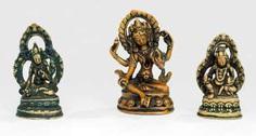 Drei Bronzen: Tara, Sitatara und Vaishravana