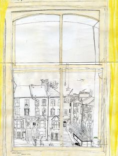 Olwen's bedroom window - claremallison.com #clare #drawing #mallison