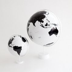Globe & Mini Globe #globe #white #black