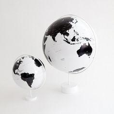 Globe & Mini Globe #globe #white #black