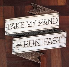 Take my Hand & Run Fast!! #type #lettering #poster #typography