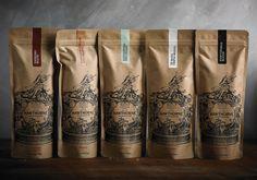 Best Awards Font Studio. / Hawthorne Coffee Packaging #packaging #hawthorne coffee #font studio