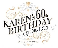 Birthday invite by Karl Wills #invite #print #design #karlwills #typography