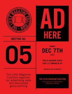thelittlemagazinecoalition:nnLittle Magazine Coalition Meeting No. 5 #flyer