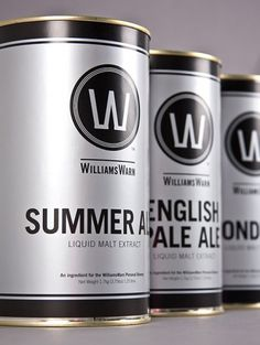 WilliamsWarn | Lovely Package #williams #silver #liquid #packagaing #warn #can