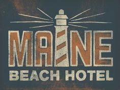 Dribbble - Summer Illustration Fun by Jonathan Schubert #maine #beach #texture #typography