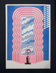 Beach London — Sexy Sottsass - Jiro Bevis riso print