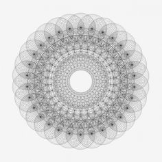 Circles in circles on the Behance Network #gslason #mandala #lines #geometry #gunnar #iceland #thorleifur