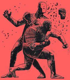 """""""Super Samoan"""" Mark hunt artwork by Gian Galang"""