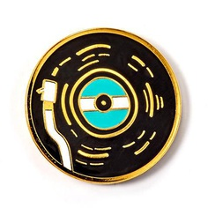 Vinyl Record Enamel Pin