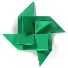 How to make a spiral origami pinwheel (http://www.origami-make.org/howto-origami-pinwheel.php)