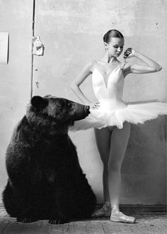 so super sam #white #ballerina #black #and #bear