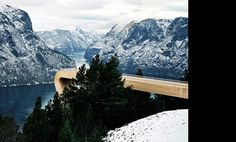 Aurland Lookout #norway #modern #landscape #nature #architecture