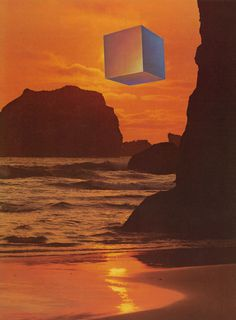cubist sunset #geometry #nostalgic #photography #collage #cube