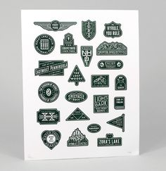Triforce Tribute DAN CASSARO YOUNG JERKS Design/Animation/Illustration #modern #print #letterpress #symbols #poster #lock