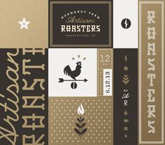 Normandy farm roasters brand board j fletcher #simple #fun #graphic #clean
