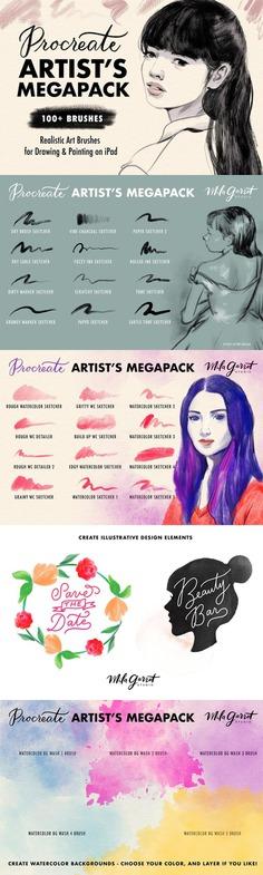 Procreate Brushes: Artist's Megapack