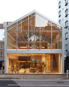 Ryo Matsui's Hairdo salon has a transparent house-shaped facade