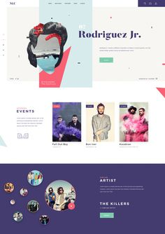 Music Landing Page by Giga Tamarashvili