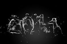 2011 Water Outline #2011 #water #illustration #numbers #dark #driks