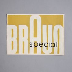 All sizes | Braun special DL 3 brochure | Flickr - Photo Sharing! #braun