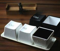 Ctrl Alt Del Keyboard Coffee Cup White Set