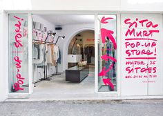Sita Murt / Sita Murt Pop Up Store identity / Fashion #pink #sign #vinyl #signage #neon