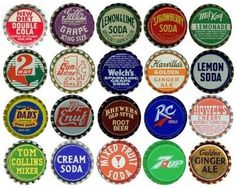 accidental mysteries: Bottle Caps: One Inch of Design #caps #lettering #bottle #retro #type