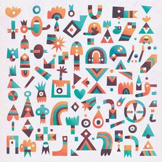 Visual Graphic Graphic Design Inspiration Blog #shapes #pattern #colours