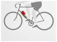 david de la fuente #illustration #cycling #spain #barcelona #david #de #la #fuente #dopping