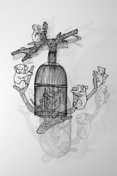 wire art #3d #guitar #sculpture #line #figure #wire #music #detailed #2d #drawing #detail