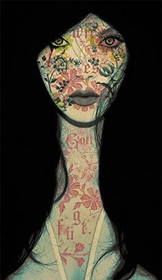 Facade by Leslie Ann O'Dell #inspiration #illustration #portrait #art