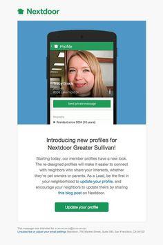Nextdoor email design #email #ux