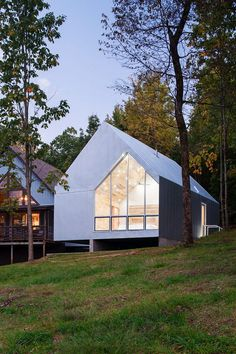 Foley Ridge Cabin is Conceived as a Galvanized Steel Monolith Elevated on Two Concrete Walls 1