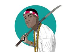 Frank Ocean Illustration #ocean #ninja #illustration #frank #art