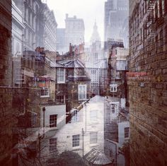 CJWHO ™ (Double Exposures Blur Lines Between New York and...) #london #design #zalcman #exposure #photography #art #york #daniella #new