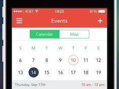 Events screen #apple #events #calendar #design #interface #iphone #app #concept #schedule #selection