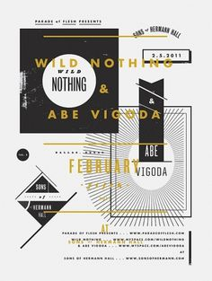 Abe Vigoda & Wild Nothing 18 x 14 Screenprint by aaroneiland #gig #print #aaron #eiland #screen #poster #futura