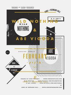 Abe Vigoda & Wild Nothing 18 x 14 Screenprint by aaroneiland