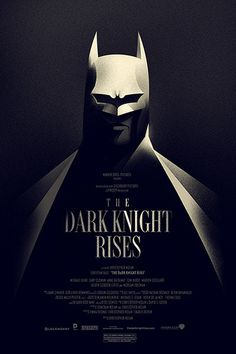 Heres my officially-licensed poster for The Dark Knight Rises. Its a 16x24 screen print on cream stock, and it will go on sale for 24 hour