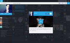 Twitter Redesign 8 #minimalist #web #social