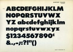 Daily Type Specimen | Airport Black, an expansion of Baltimore Type... #typography
