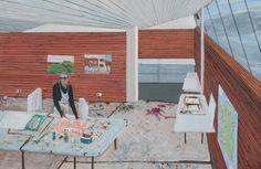 Sarah McEneaney, 'Ballinglen Studio', 2016, Tibor de Nagy
