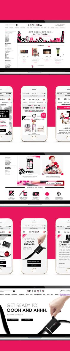 interactive holiday campaign for Sephora. #love #makeup #ecommerce #product #interactive #ux #sitedesign #sephora #makeup #editorial #interv
