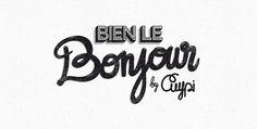 Bien le Bonjour ! on the Behance Network #type