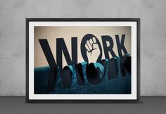 Work typography poster