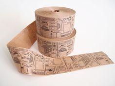 tape, print, package