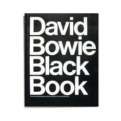 Merde! - kentson: Book design (David Bowie Black Book)Â #design #graphic #typography